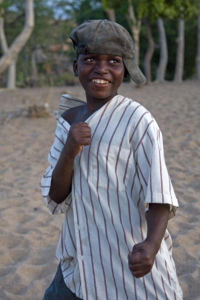 Picture of Malawian boy on a beach of Likoma Island