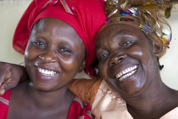Picture of Big smiles on Malawian faces of two women on the Ilala ferry