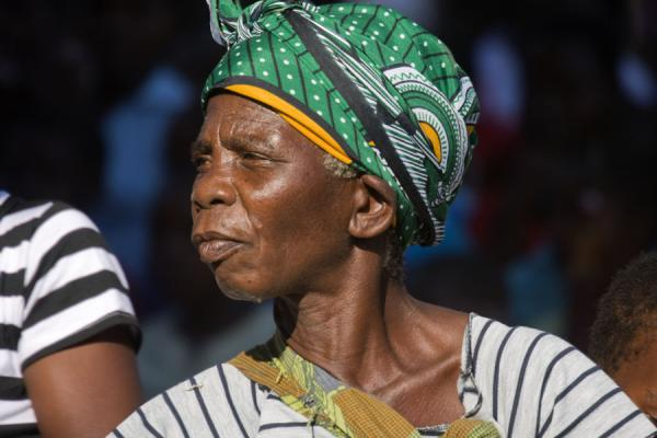 Picture of Concentrated Malawian woman at a dance festival on Chizumulu Island