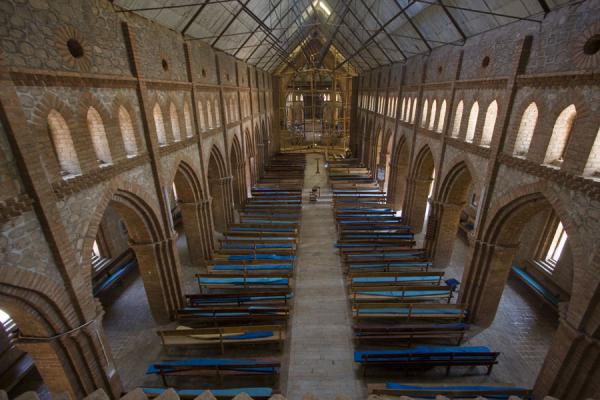 Picture of Saint Peter's Cathedral (Malawi): Looking down on the nave of St. Peter's Cathedral