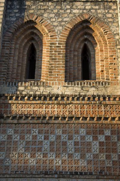 Picture of Saint Peter's Cathedral (Malawi): Decorations on the wall of St. Peter's Cathedral
