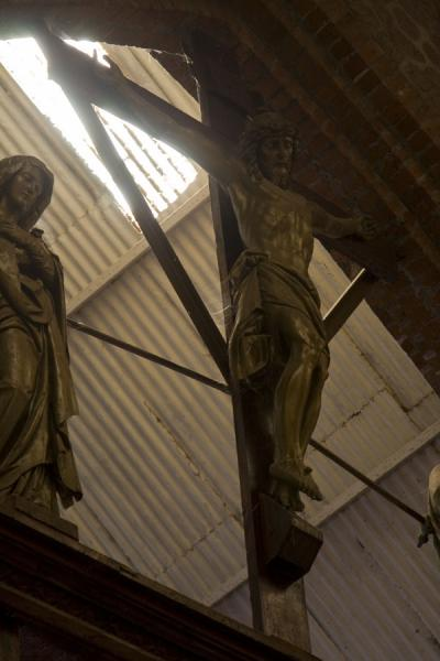 Jesus on a wooden cross inside Saint Peter's | Saint Peter's Cathedral | Malawi