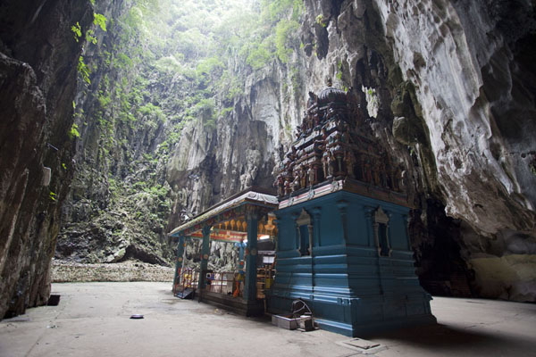 Picture of Lord Murugan temple in the upper cave of the Batu cave complex