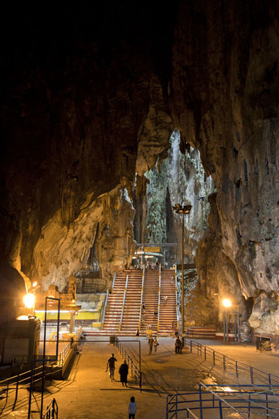 Cathedral Cave, or Temple Cave, houses various smaller Hindu shrines | Batu Caves | Malaysia
