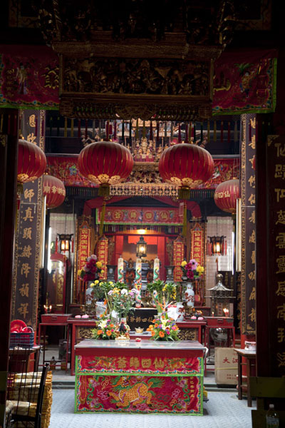 Foto van Interior of the Sze Ya temple in ChinatownKuala Lumpur Chinatown - Maleisië