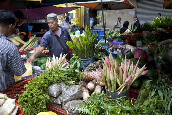 Vegetable stall at Pudu market | Pudu market | Malaysia