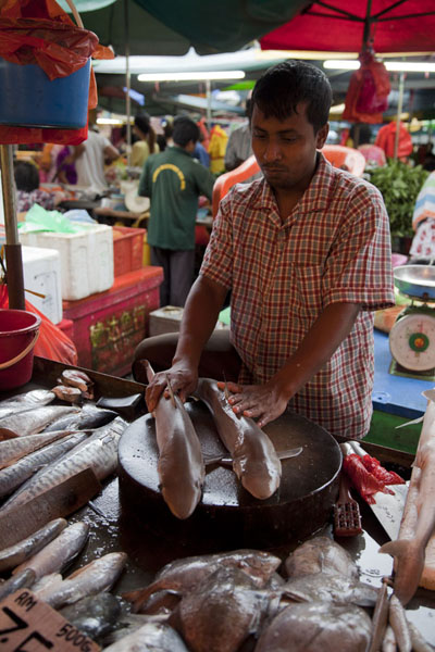 Selling sharks at Pudu market | Mercado de Pudu | Malasia
