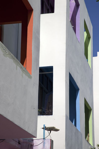 Picture of Looking up modern apartment block in HulhumaléHulhumalé - Maldives