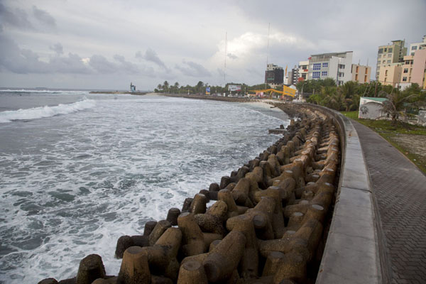 Picture of Tetrapods protecting the eastern coastline of Malé