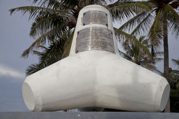 The Tetrapod monument, in honour of the tetrapods that protect Malé, and are donated by Japan | Malé | Maldives