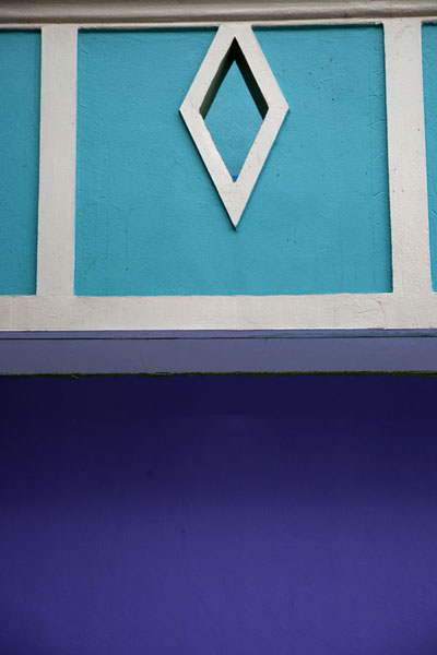 Close-up of brightly painted house in Viligili | Ile Viligili | Maldives