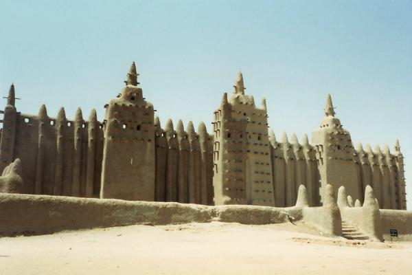 Foto van Mali (Great Mosque of Djenné: marvel of adobe construction)