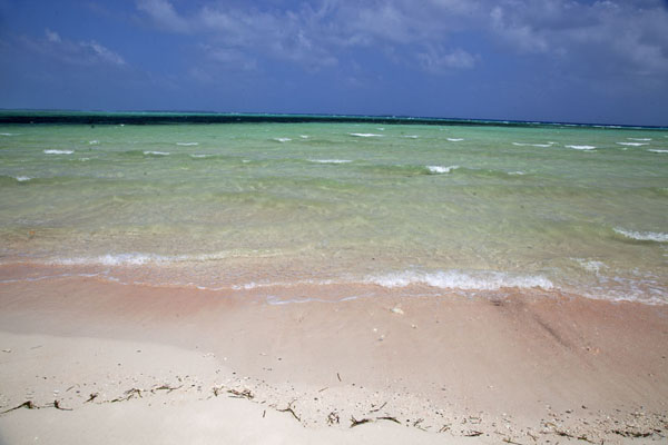 Foto de View across the atoll from the beach of LauraLaura -