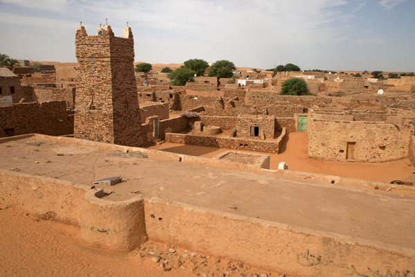 View of the Friday mosque of Chinguetti from the roof of the library | Chinguetti | Mauritania