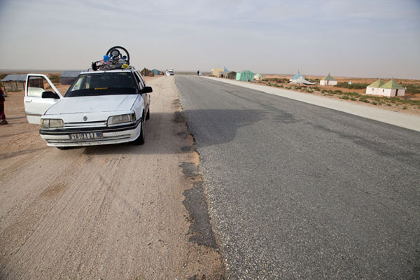 Picture of Stopping for prayer on the way southNouakchott - Mauritania