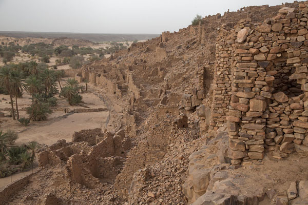 View of the ruins of the old city of Ouadane | Ouadane | Mauritanie