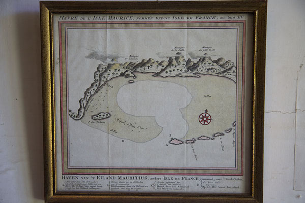 Photo de Old map of the bay of MahéborgFort Adelaide - Maurice