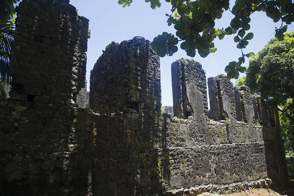 Picture of Side wall of the French fortOld Grand Port - Mauritius