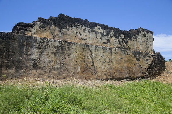 Foto van Ruins of a wall of the French fort, built on top of the Dutch one - Mauritius - Afrika