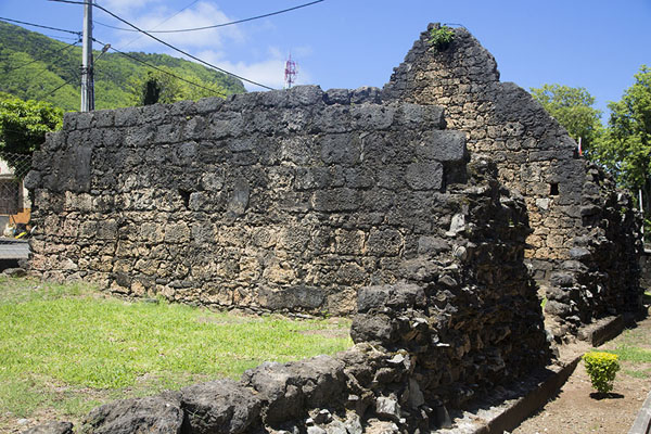 Picture of Walls of the French fort that was built on top of its Dutch predecessorOld Grand Port - Mauritius
