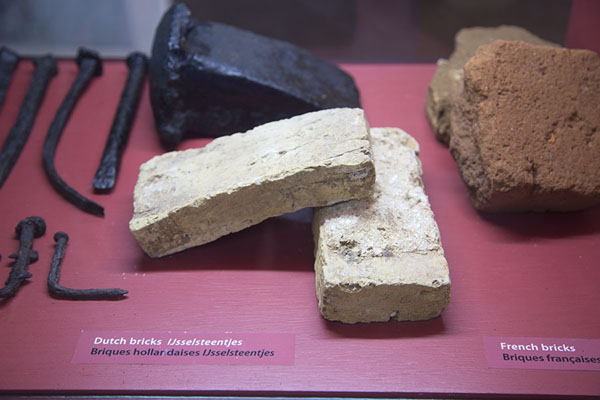 Picture of Dutch bricks on display in the small museum - Mauritius - Africa