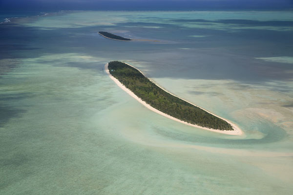 Picture of Ile aux Cocos and Ile aux Sables from the airIle aux Cocos - Mauritius