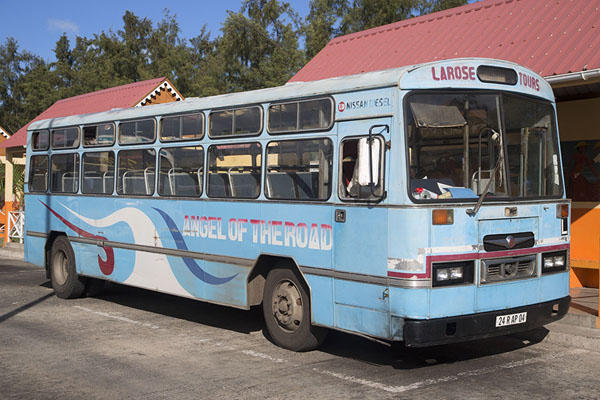 Foto di Angel of the Road, Port Mathurin bus stationPullman di Mauritius - Maurizio