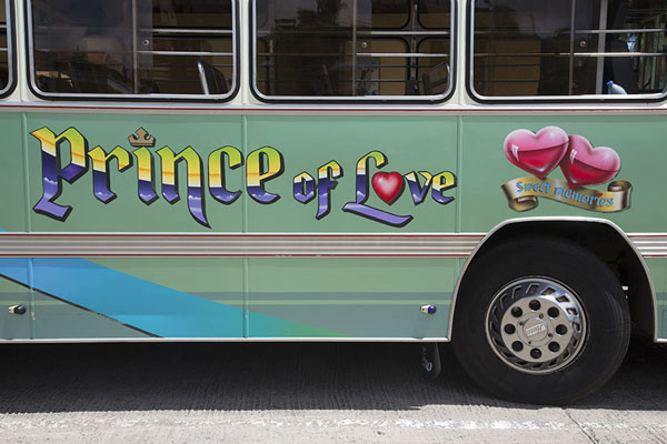 Photo de Prince of Love bus at Port Mathurin bus station - Maurice - Afrique