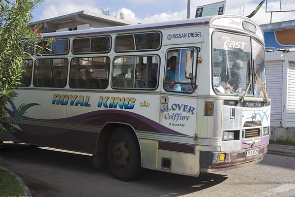 Bus at Port Mathurin bus station | Bussen van Mauritius | Mauritius