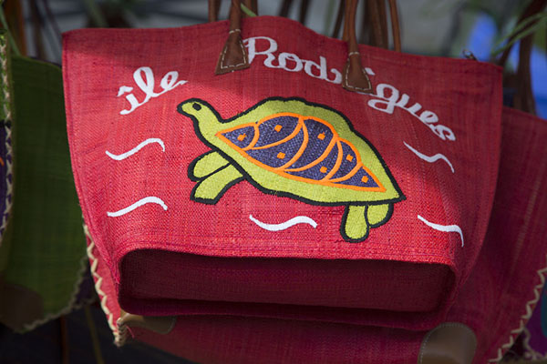 Foto van Bag for sale at the market of Port MathurinPort Mathurin - Mauritius