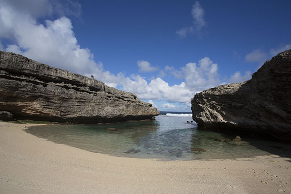 Foto van Anse Bouteille in the afternoonEast Rodrigues - Mauritius