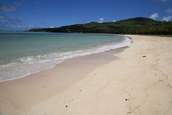 Foto van Empty beach of Saint FrancoisEast Rodrigues - Mauritius
