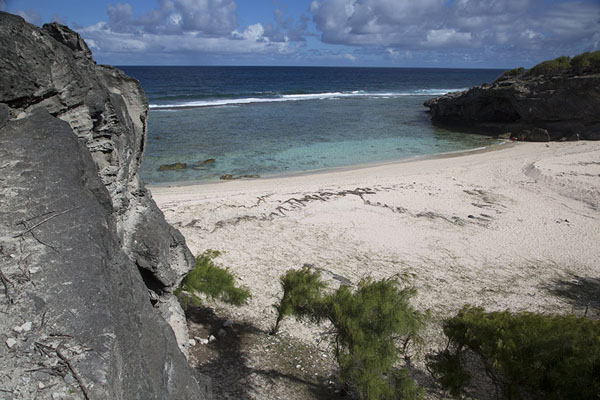 Foto van The wide beach of Anse Philibert in the afternoonEast Rodrigues - Mauritius
