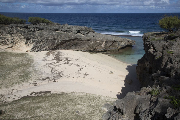 Photo de Trou d'Argent beach seen from aboveEast Rodrigues - Maurice