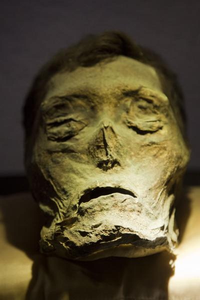 One of the loose heads on display in the museum | Mummies Museum | Mexico