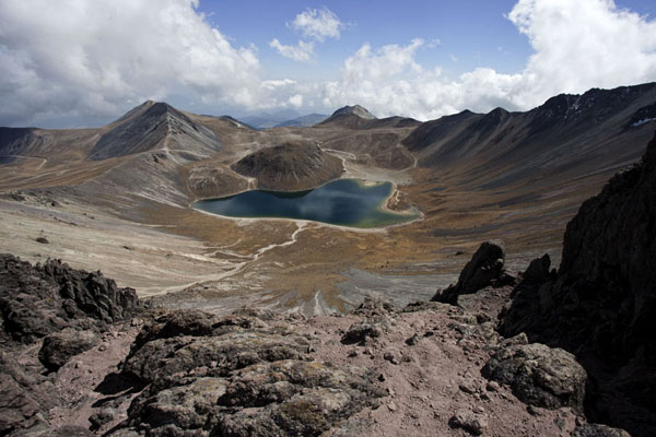 View of the caldera of Nevado de Toluca with the Laguna del Sol | Nevado de Toluca | Mexico