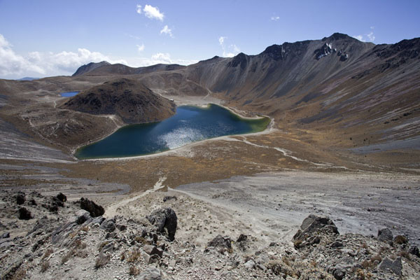 View of the Laguna del Sol from the northern part of the crater rim of Nevado de Toluca | Nevado de Toluca | Mexico