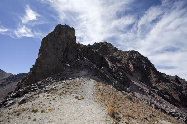 Picture of Trail leading to the first rocky section of the crater rim of Nevado de TolucaNevado de Toluca - Mexico