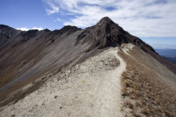 Trail on the northeastern side of the crater rim of Nevado de Toluca | Nevado de Toluca | Mexico