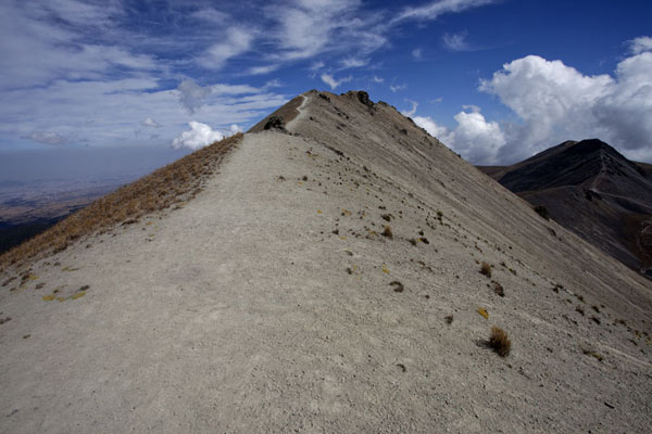 Picture of Crater rim with trail on top of the Nevado de Toluca - Mexico - Americas