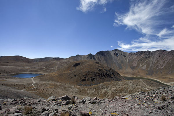 The Laguna del Sol and Laguna de la Luna seen from the crater rim | Nevado de Toluca | Mexico