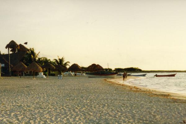 Picture of Beach of Playa del Carmen in the early morning