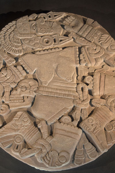 Picture of Coyolxauhqui goddess dismembered; finding this huge disc triggered the excavations of Templo Mayor - Mexico - Americas