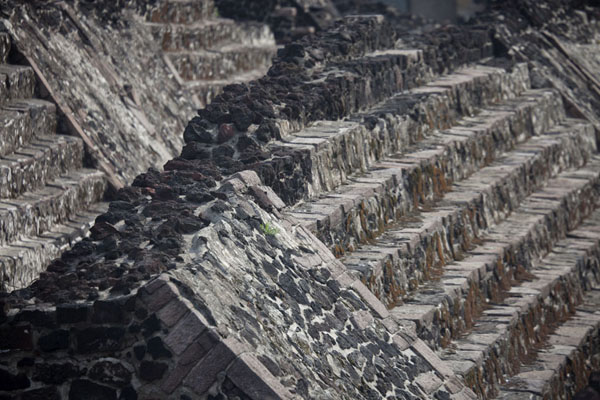 Picture of Two rows of stairs at the Templo Mayor - Mexico - Americas