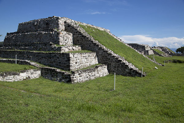 One of the smaller pyramids on the east side of Xochicalco | Xochicalco | Messico
