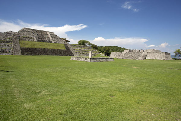 View across the Square of the Two Glyphs | Xochicalco | Messico