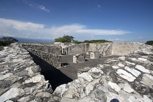 Foto de View over the acropolis, the highest part of the ruins of XochicalcoXochicalco - Mexico