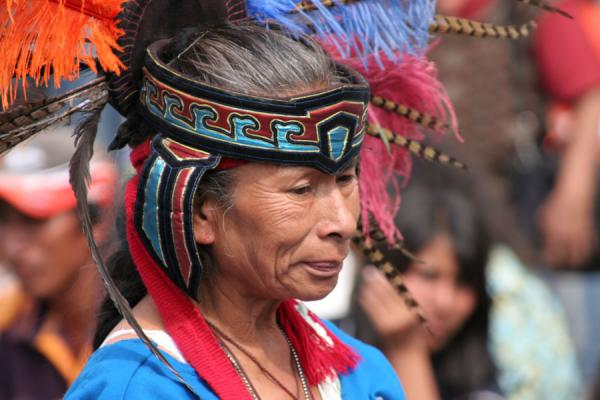 Picture of Zocalo (Mexico): Zocalo, Mexico City: Indian healer with traditional dress