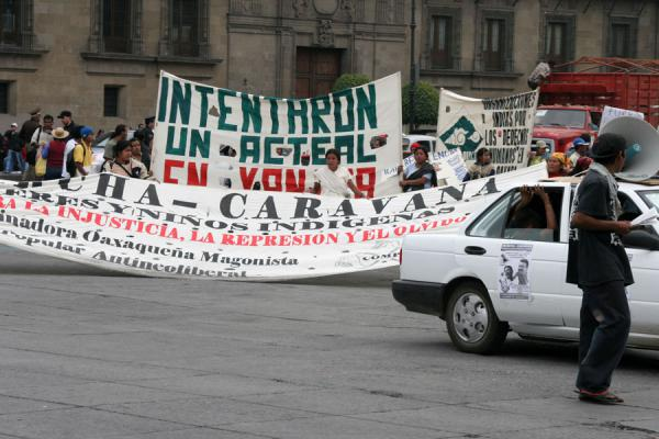 Picture of Zocalo (Mexico): Zocalo, Mexico City: demonstrations are part and parcel of the square
