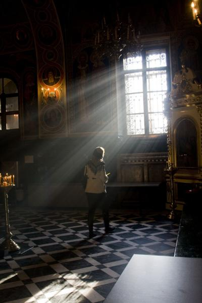 Woman and light in the Nativity Cathedral | Nativity cathedral | Moldova